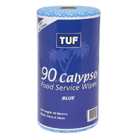 TUF Blue Food Service Wipes on a Roll (30cm x 50cm 90 Sheets) - Roll
