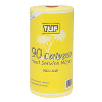 TUF Yellow Food Service Wipes on a Roll (30cm x 50cm 90 Sheets) - Roll