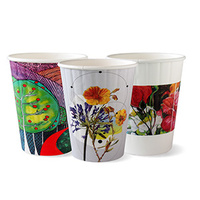 BioPak 12oz Double Wall Hot Cup - Art Series - Sleeve of 50