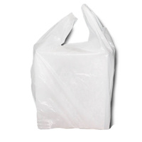 Vest Plastic Shopping Bag Small White 35um - Sleeve of 200