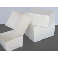 Cake Carton White 275x275x125mm - Sleeve of 100