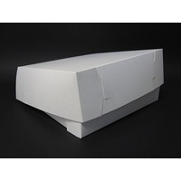 Cake Carton White 305x305x100mm - Sleeve of 50