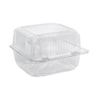 Clear Hinged Lid Round Roll Container - Sleeve of 125