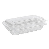 Clear Hinged Sushi Pack Small - Sleeve of 100