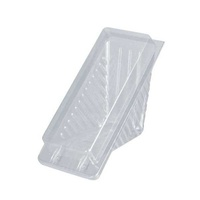Clear Hinged Lid Sandwich Wedge No1 Std - Sleeve of 100