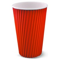 Ripple Wrap Cup 8oz Red - Sleeve of 40