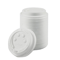 "Ripple Wrap ""I am Eco"" 8oz Lid White - Carton of 1000"