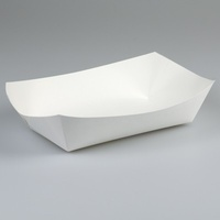 Food Tray No 2 Small White 110x76x40mm - Sleeve of 100