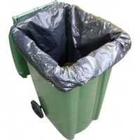 240lt Bin Liner (Black) - Roll of 100