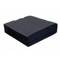 Biopak 2 Ply Cocktail Napkin Black 240x240mm - Sleeve of 250