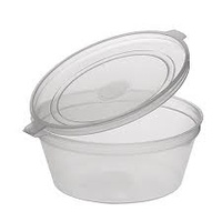 Round Sauce Container with Lid 100ml - Sleeve of 50