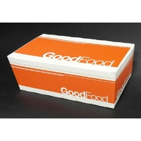"Snack Box Large ""Good Food"" 200x115x70mm - Sleeve of 50"