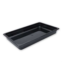 GN Polycarbonate Pan 1/1 Size 100mm Black - Each