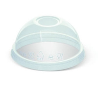 16/20/24oz PET Clear Cold Cup Dome Lid - Sleeve of 50