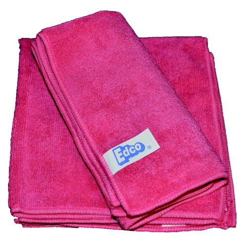 TUF Contractors Red Microfibre Cloth 36x36cm - Each