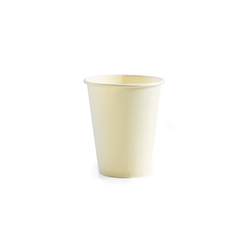 BioPak 12oz Single Wall Hot Cup - Plain White - Sleeve of 50