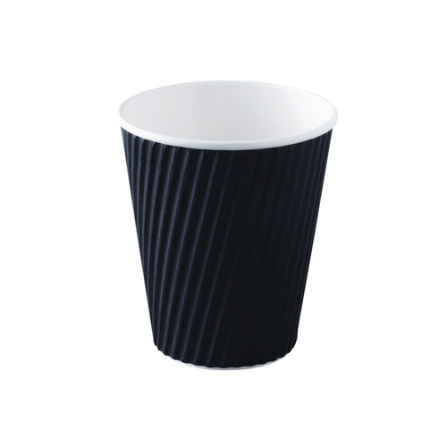 Ripple Wrap Cup 12oz Black - Sleeve of 40